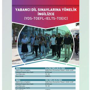 YDS- TOEFL-IELTS-TOEIC SINAVLARINA YÖNELİK KURSLAR